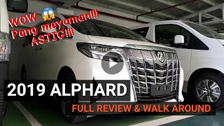2019 NEW ALPHARD 3.5L GAS AT  || FULL REVIEW AND WALK AROUND