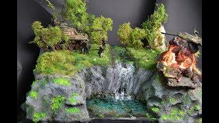 War in Vietnam Waterfall resin art  HD 1080 P