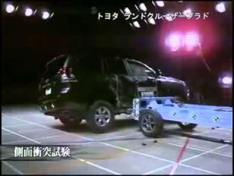 Vehicule  Crash Test 2010 - 20__ Toyota Prado Landcruiser _ Lexus GX  Side Impact) JNCAP-Extreme