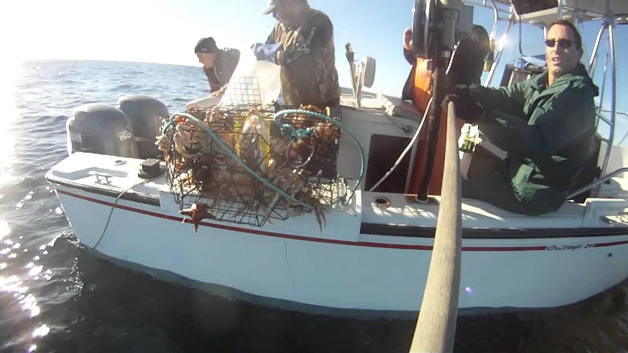 Crabbing in Half Moon Bay - November 5, 2014 - YouTube