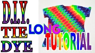 DIY Angled Symmetrical Rainbow Tie Dye Shirt [Full Tutorial] #40