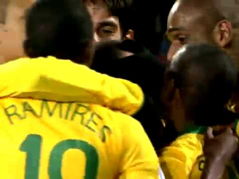 Brazil vs South Africa (1 - 0) GOAL DANIEL ALVES - Cup Confederations South Africa 2009