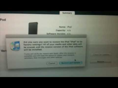 iPod Touch1611, 1604, and other ULTIMATE FIX!! Will Fix All iPod products!
