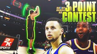 3 POINT CONTEST VS LEBRON JAMES & STEPHEN CURRY! NBA 2K19 MyCareer Ep.9