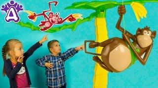 Обезьяна - банановый бандит игра распаковка Для детей KIDS Children Друзяки новые серии 2016!