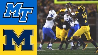 Middle Tennessee vs #7 Michigan Highlights | NCAAF Week 1 | College Football Highlights