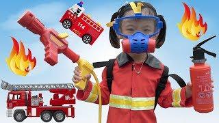 Trò Chơi Bé Tập Làm Lính Cứu Hỏa ❤ AnAn ToysReview TV ❤