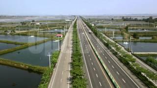 嘉義空拍布袋港、東石港、港口大橋