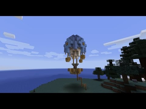 Minecraft Tutorial    How To Make A Hot Air Balloon (Easy!)