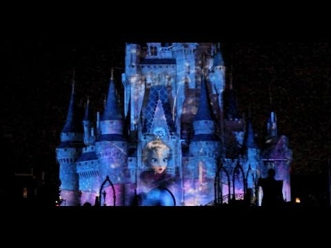 Frozen segment in Celebrate the Magic castle show featuring