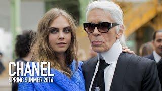 CHANEL Spring 2016 Fashion Show Backstage ft Karl Lagerfeld, Cara Delevingne  | MODTV