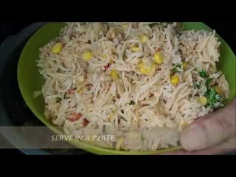 corn pulao in telugu || sweet corn pulao in pressure cooker || lunch box recipe