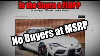 2020 Supra Fails to Sell for MSRP - That was quick!