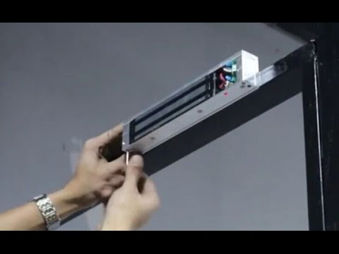 How to install a electromagnetic lock for automatic swing door