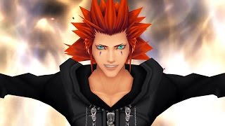 Kingdom Hearts 2: Roxas vs Axel Boss Fight (PS3 1080p)