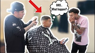 "SHAVING MY BROTHERS HEAD BALD ON ""ACCIDENT"" PRANK!!! *Must Watch*"