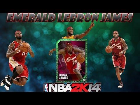 NBA 2k14 MyTeam - CLEVELAND CAVALIER EMERALD LEBRON JAMES IN PACKS!!! RETURN OF THE KING!!!