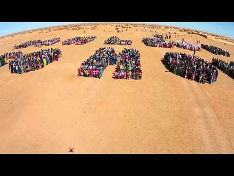 Potest against San Leon Energy drilling in occupied Western Sahara (flyover)