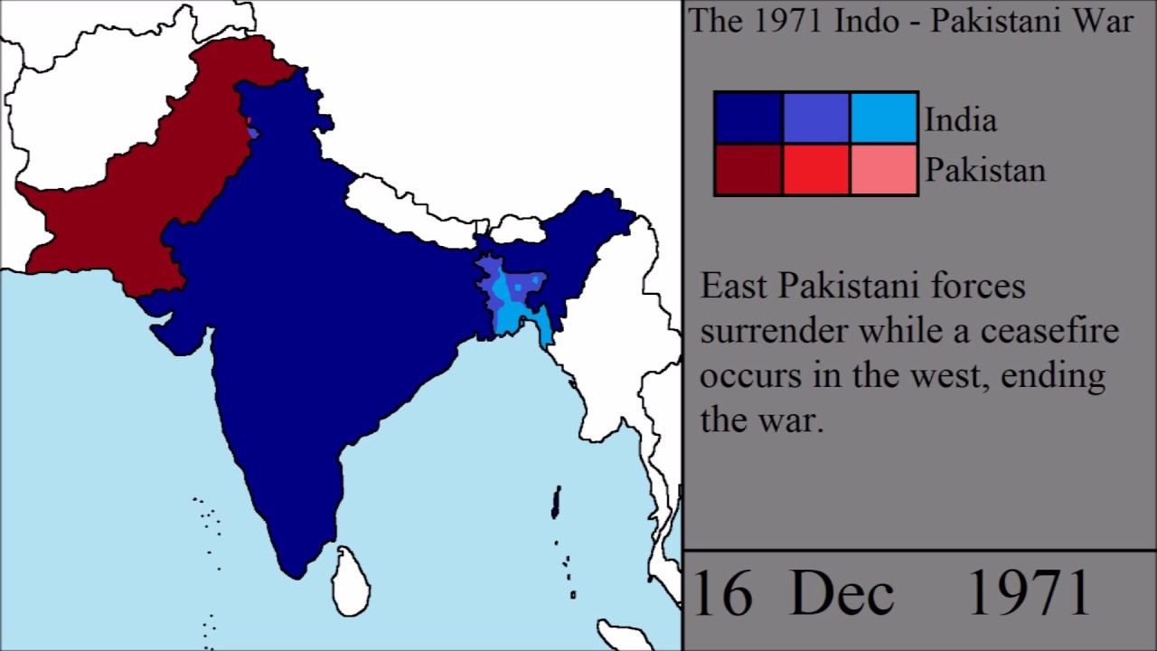 The Indo Pakistani War Of 1971 Every Day Youtube