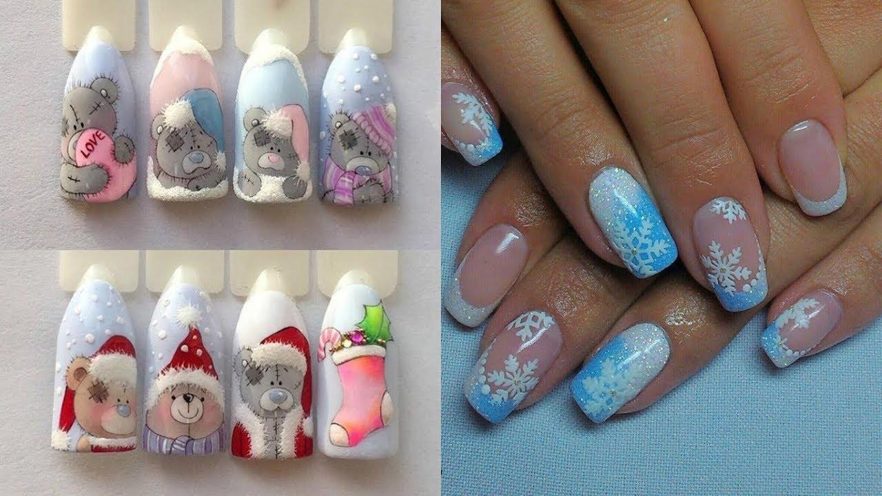 Дизайн ногтей на новый год 2018 лак