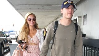 Paris Hilton Nods Her Head When Asked If Chris Zylka Is 'The One' At LAX