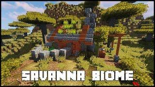 Minecraft Tutorial ► Savanna Biome Starter House!!!