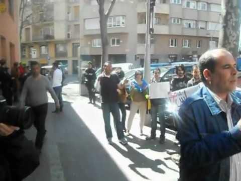 Manifestation Consolat Maroc Barcelone 16/03/2012 وقفة احتجاجية برشلونة