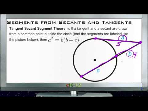 Segments from Secants and Tangents Principles - Basic