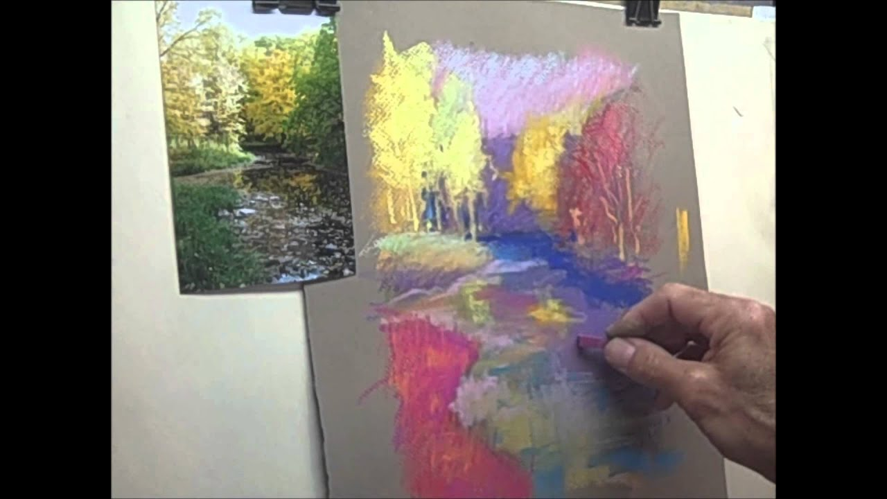 Painting With Oil Pastels Technique
