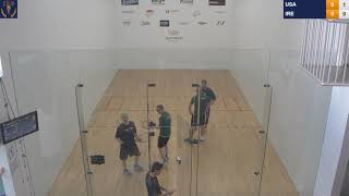 2018 Racquetball World Championships - Men's Doubles Round Robin - USA vs IRL