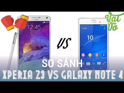 [Review dạo] So sánh chi tiết Sony Xperia Z3 và Samsung Galaxy Note 4 - ai tốt hơn ai ?