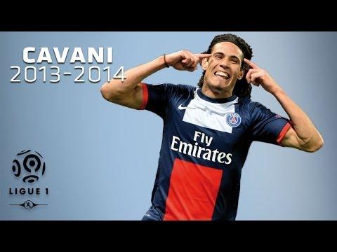 Edinson Cavani - All Goals in 2013-2014 (1st half) - PSG