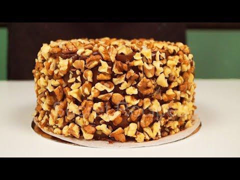 Кофейно-карамельный торт с грецким орехом | Walnut cake