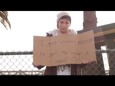 The Homeless Child Experiment! (Boy In Need Of Help Being Ignored By Almost Everyone)