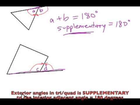 Properties Of Interior Exterior Angles In Triangles And Quadrilaterals