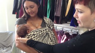 Babywearing While Breastfeeding: Newborn in a Ring Sling