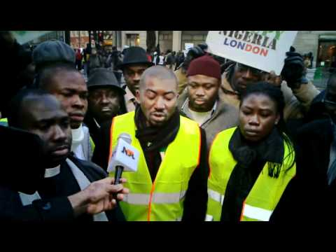 NIGERIA FUEL SUBSIDY PROTEST IN LONDON 4