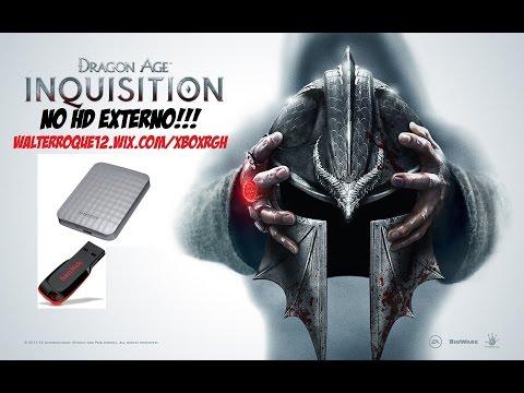 INSTALANDO DRAGON AGE INQUISITION - HD  EXTERNO RGH/JTAG