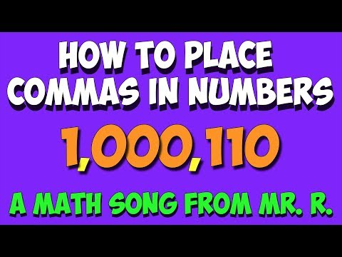 how to put comma in numbers
