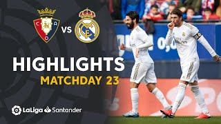 Highlights CA Osasuna vs Real Madrid (1-4)