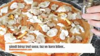 italyan usulü pizza hamuru ve mantarlı pizza tarifi