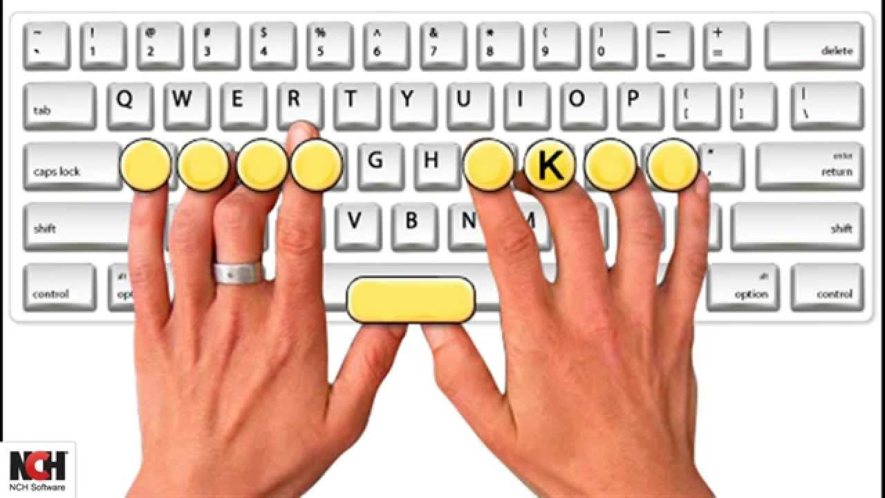 touch typing with KeyBlaze