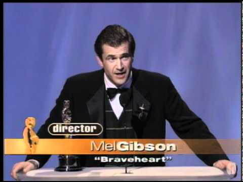 Mel Gibson ‪winning the Oscar® for Directing