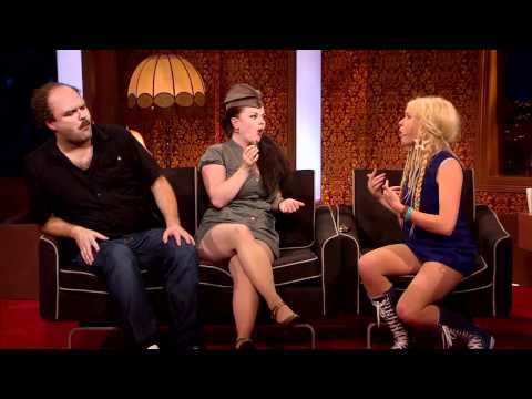 Upskirt TV guest(s) at Ylvis