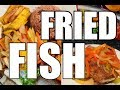 Spicy Fried Fish With Vegetables Serve With Rice & Peas | Chef Ricardo Cooking