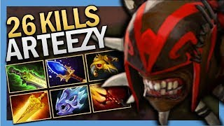 Dota 2 Pro Safelane Bloodseeker with 26 Kills by EG.Arteezy TI9