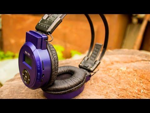 Наушники из Китая! Беспроводные наушники со встроенным MP3 плеером