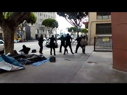 Shock Video  Lapd Kill Black Man Lying On Ground After Tasering Him