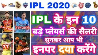 IPL 2020 - List Of Top 10 IPL Players With Very Low Salary | IPL Auction | MY Cricket Production