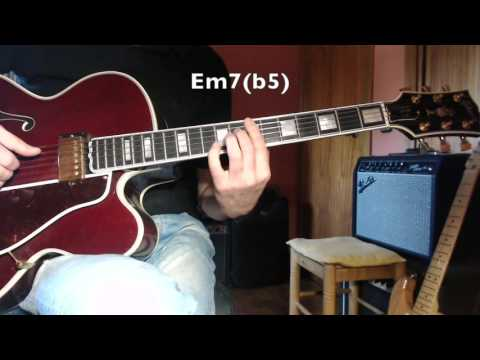 Jazz Guitar - How Insensitive - A.C.Jobim  - Melody And Chords Comping